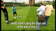 Футболен Урок От Роберто Карлош - Изпълнение На Пряк Свободен Удар