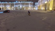 Russia: See St. Petersburg snowboarder shred majestic Palace Square at serious speeds