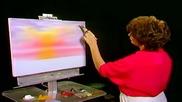 S05 Радостта на живописта с Bob Ross E06 - изгрев над океана ღобучение в рисуване, живописღ