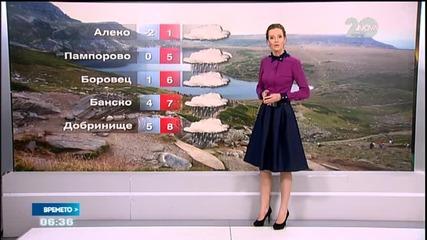 Прогноза за времето (31.10.2014 - сутрешна)