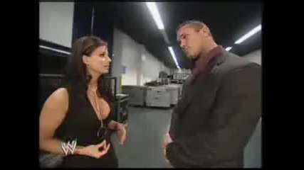 Candice Michelle and Randy Orton backstage