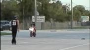Traxxas E - Revo 1 - 16 Scale vs Honda Repsol Drag Race