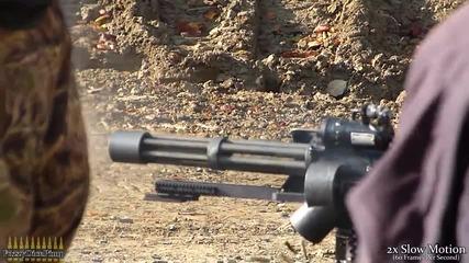 M134 Minigun Firing (w-slow Motion) at Knob Creek