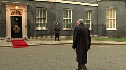 Великобритания: Меркел, Макрон и Ердоган влизат в сградата на правителството
