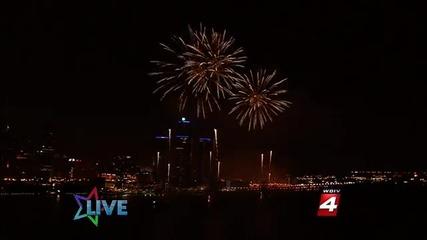 The Target Fireworks (finale) - Detroit Riverfront 6-27-11