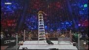 Rey Mysterio throws Alberto Del Rio off a Ladder throught a Table