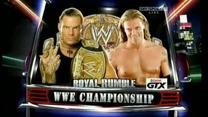 Royal Rumble 2009 Jeff Hardy Vs Edge