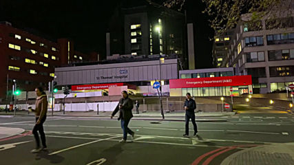 UK: Emergency vehicles outside St Thomas' Hospital after PM Johnson admitted to intensive care