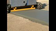 Машина за моментално полагане на бетонова настилка!