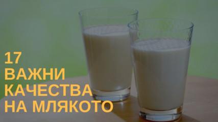 17 важни качества на млякото