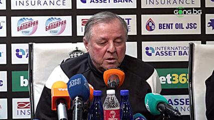 Тарханов: Надявам се да бъдем на друго ниво през пролетта