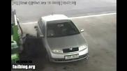 Какво стана докато зареждаше с бензин