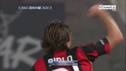 02.02.2010 Парма - Милан 0:1 Андреа Пирло гол 1080p