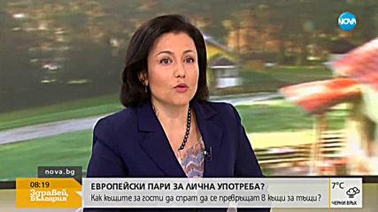 Танева за къщите за гости: Глобите няма да се платят от българския данъкоплатец
