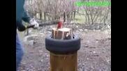 Така се цепят дърва !!!