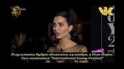 Интервю с Туба Бююкюстюн на наградите Gq 2014 бг.суб