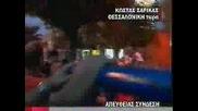 Paok Hooligans In Thessaloniki Police