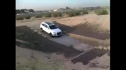 Audi Q7 изкачва 50° наклон !!!