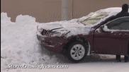 Сцени от зимна буря в Лафайет , Индиана 9.1.2014