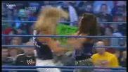 Smackdown 8/1/10 Beth vs. Layla + Mickie atack Beth