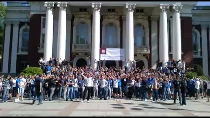 Levski Ultras before derby 29.04.2012