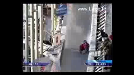 Luge crashes