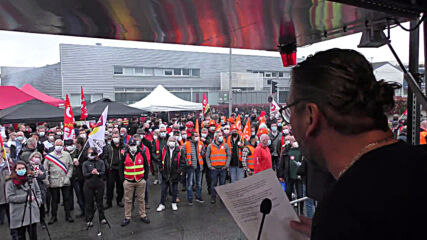 France: Employees strike over restructuring plans outside Renault plant in Le Mans