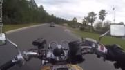 Ето какво документира камерата на моторист учасник в случка на магистрала !