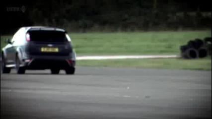 Top Gear - Форд Фокус Rs500 по-бърз от Bmv M5