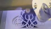Лазерно изрязване на картони, хартия, дърво и пластмаси
