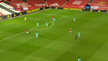 Манчестър Юнайтед - Ливърпул 1:1 /първо полувреме/