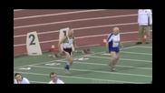 95 годишни мъже се състезават на спринт на 60 метра