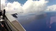 Полет на изтребител Cockpit Go-pro Footage From Vfa-27