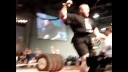 Benedikt Magnusson 1100 Tire Deadlift World Record!