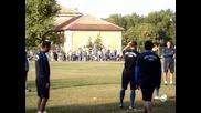 Левски тренира в шумен 24.09.2011