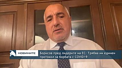 Борисов пред лидерите на ЕС: Трябва ни единен протокол за борбата с COVID19