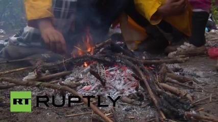 Бежанци бяха блокирани цяла нощ на ничия земя между Сърбия и Хърватия