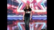 Жена със страхотен глас - X - Factor България 15.09.2011