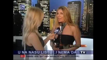 Indira Radic - O novoj pesmi Zodiac - Estradne vesti - (TV Dm Sat 2012)