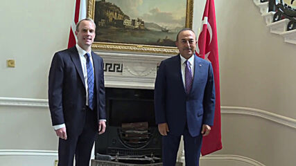 UK: Turkish FM Cavusoglu meets with Raab in London