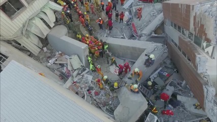 Taiwan: Drone captures baby being pulled from earthquake rubble
