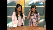 1.7.2013 Забавни близначки моделки показват баскет умния в Здравей, България