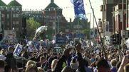 UK: Leicester fans cheer triumphant team after Premier League win