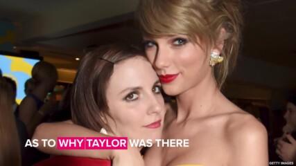Taylor Swift attends Lena Dunham's wedding in London