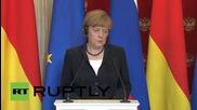 Русия: Русия: Владимир Путин посреща Меркел и настоява за край на санкциите