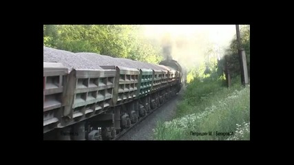 Руски товарен влак начело с - 3m62u