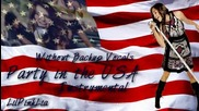 Miley Cyrus - Party in the Usa instrumental with And without backing vocals [hd]