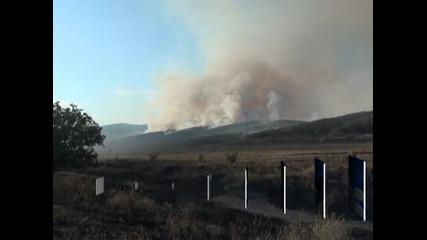 Пожар гори в Рила в близост до Рилския манастир