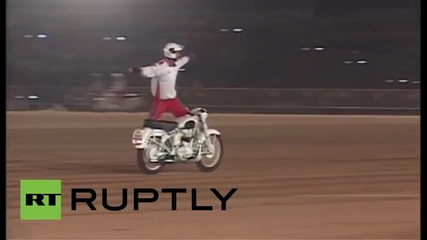 India: Dazzling torch-lit parade and stunt show see off Dasara in style