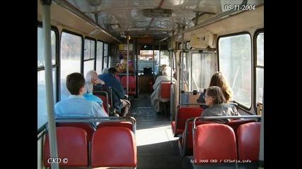 Някои тролейбуси и автобуси на Гт в Пазарджик